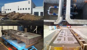 2012-13: Progettazione e direzione tecnica di cantiere. Realizzazione di un impianto di scarico acque nere a servizio di lavatrici industriali per la pulizia di pezzi meccanici e di un basamento in c.a. per il telaio di un tornio all'interno del Deposito treniMetro C (CS CAM).